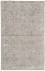 8' x 11' Area Rug Rectangle Taupe Silver Genesis Banister GES14 Handmade Hand-Tufted