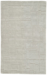 8' x 10' Area Rug Rectangle Light Gray Lounge Elowah LOE44 Handmade Hand-Tufted Modern