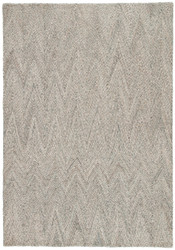 8' x 10' Area Rug Rectangle Gray Aqua Silvermine Carter SIV04 Handmade Hand-Tufted
