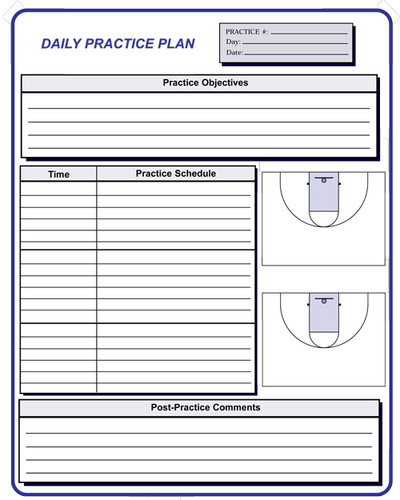 Basketball coaching forms for Basketball practice planner template