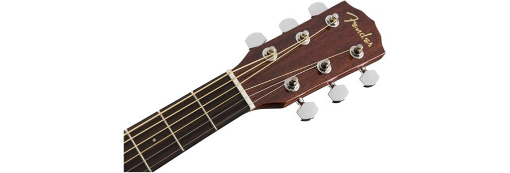 Fender CD60SCE Solid Top Acoustic Electric Guitar Headstock Front Facing