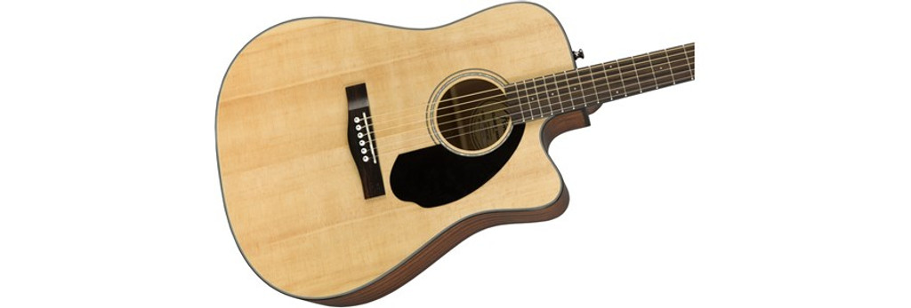 Fender CD60SCE Solid Top Acoustic Electric Guitar Offset Front Facing