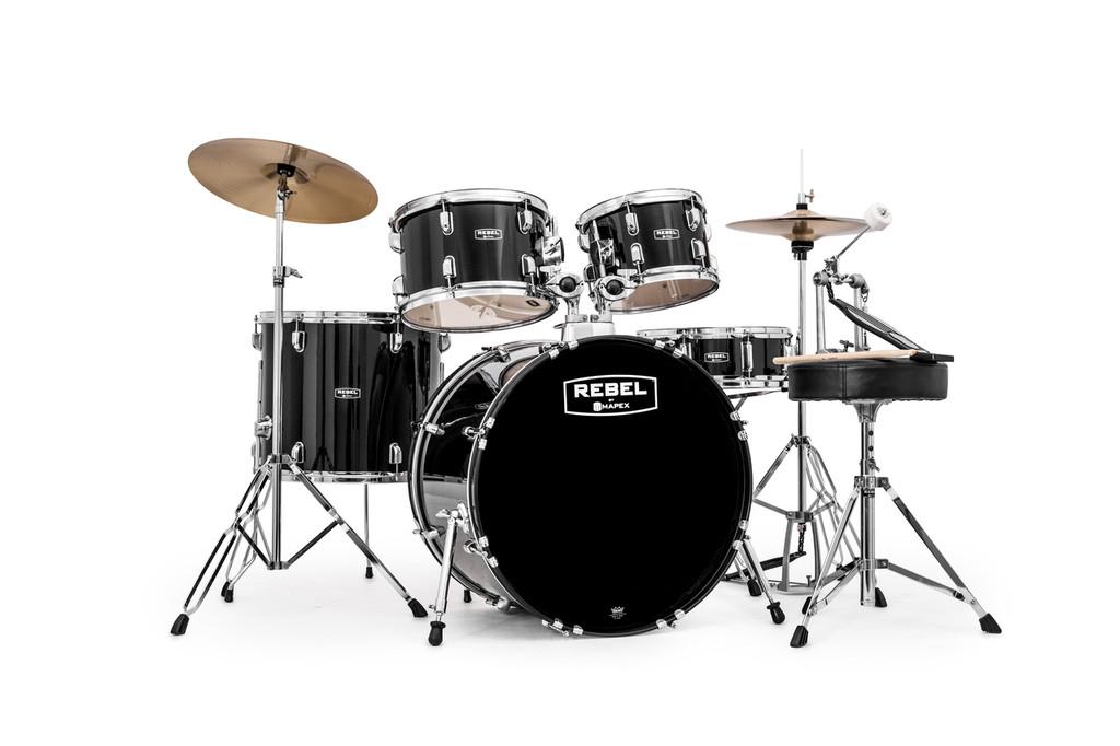 Black Rebel 5 piece Drum Set