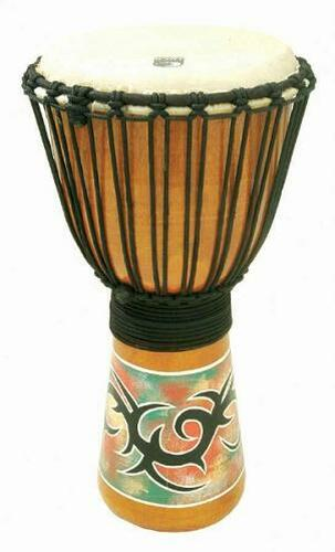 TOCA SDVNP8 Synergy Rawhide 8 Inch Djembe Natural With Tribal Graphic