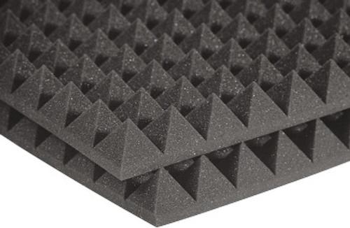 """AURALEX 2PYR24CHA 2"""" Pyramid Studio foam"""