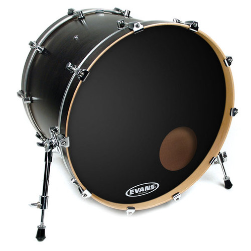 EQ3 Reso Black - Evans Bass Drum Head - 22""