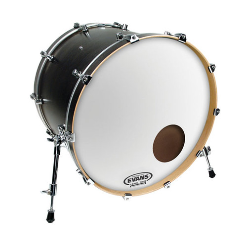 EQ3 Reso Smooth White - Evans Bass Drum Head - 22""