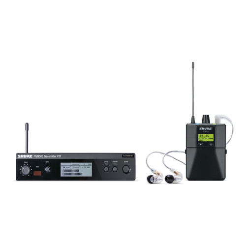 Shure P3TRA215CL Wireless In-Ear System w/ SE215CL Earphones (P3TRA215CL)