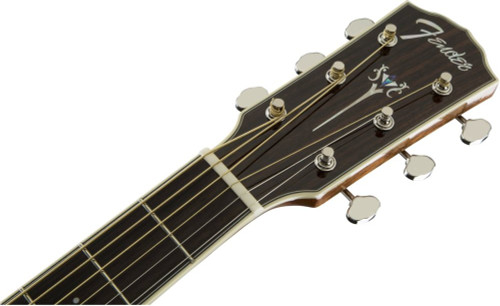 Fender PM1S PM-1 Standard Dreadnaught Headstock Front Facing
