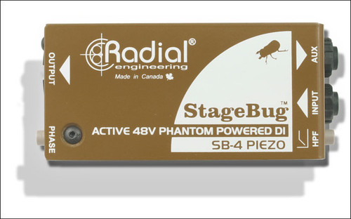 Radial SB4R DI for piezo pickups, low-cut filter, 48V phantom