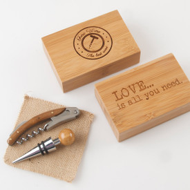Bamboo Box-Corkscrew/Stopper