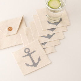 Canvas Coaster set of 6