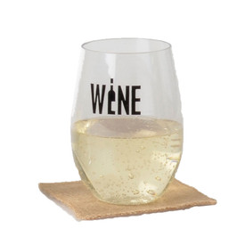 16oz Plastic Flexible Wine Glass 4 pack