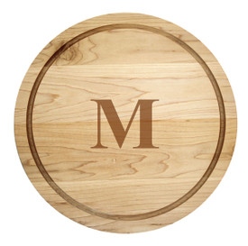 "Monogrammed Artisan Round 14"" made of maple wood"