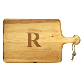 "Monogrammed Artisan Paddle - Maple 18""x11"""