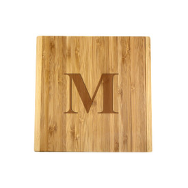 Monogrammed Bamboo Board & Cheese Knife Set