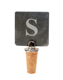 Monogrammed Slate Bottle Stopper with Cork