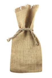Custom 1 Bottle Jute Tote