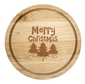 "Holiday Artisan Round 14"" made of maple wood"