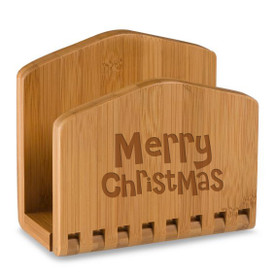 Holiday Bamboo Napkin Holder