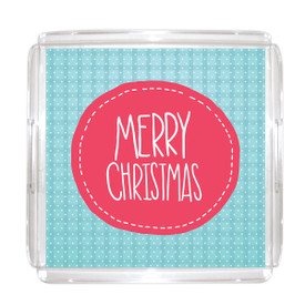 "Holiday Serving Tray 12""x12"" with Paper Insert"