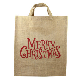 Holiday Jute Market Tote