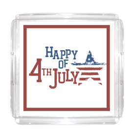 "All American Serving Tray 12""x12"" with Paper Insert"