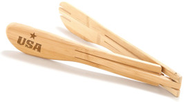 All American Bamboo Salad Tongs