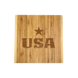 All American Bamboo Board & Cheese Knife Set