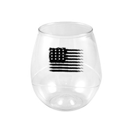 All American 16oz Plastic Beverage Glass 4 pack
