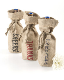 1 Bottle Jute Tote