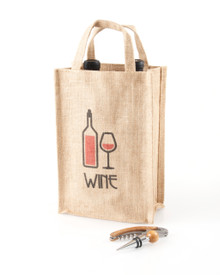 2 Bottle Jute Tote