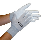 ESD Inspection Gloves, Palm Coated, Medium