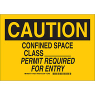 124267 Confined Space Sign