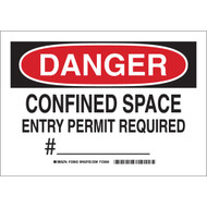 123643 Confined Space Sign