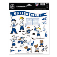 Tampa Bay Lightning WinCraft Automotive Family Decal Sheet