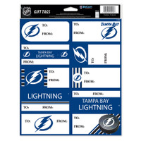 Tampa Bay Lightning WinCraft Gift Label Sticker Sheet