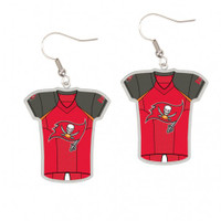 Tampa Bay Buccaneers Jersey Earrings