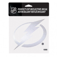 Tampa Bay Lightning 6x6 Chrome Circle Bolt Decal