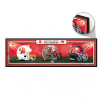Tampa Bay Buccaneers Wincraft 3 Helmet Wood Sign
