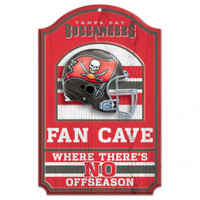 Tampa Bay Buccaneers Wincraft Fan Cave Wood Sign