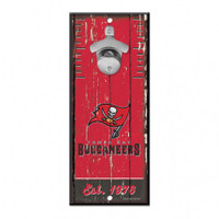 Tampa Bay Buccaneers Wincraft Bottle Opener Wood Sign