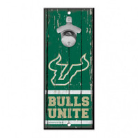 University of South Florida Bulls Wincraft Bottle Opener Wood Sign