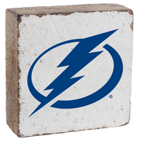 Tampa Bay Lightning Rustic Block Sign (White)