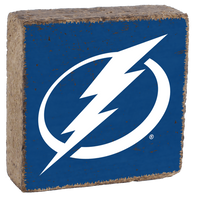 Tampa Bay Lightning Rustic Block Sign (Royal)