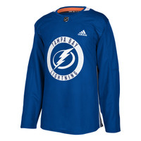 ADIZERO Authentic Tampa Bay Lightning BLUE Practice Jersey