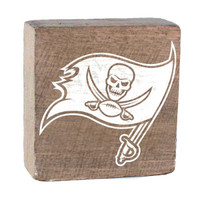 Tampa Bay Buccaneers Rustic Marlin Rustic Block (Natural)