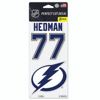 Tampa Bay Lightning Victor Hedman & Team Logo Decal 2-Pack
