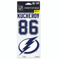 Tampa Bay Lightning Nikita Kucherov & Team Logo Decal 2-Pack