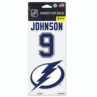 Tampa Bay Lightning Tyler Johnson & Team Logo Decal 2-Pack